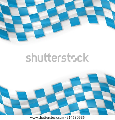 Oktoberfest abstract wavy bright background. Vector design - stock vector