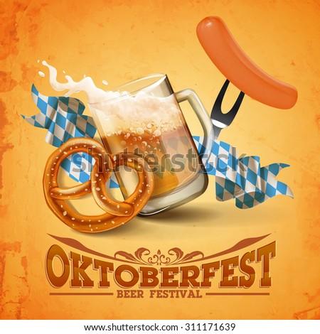 OKTOBERFEST BEER FESTIVAL - stock vector