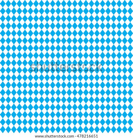OKTOBERFEST blue Abstract geometric pattern. October festival Vector illustration, blue color. Germany's Oktoberfest world's biggest wine festival. Seamless Oktoberfest and Bavarian flag pattern. 2016