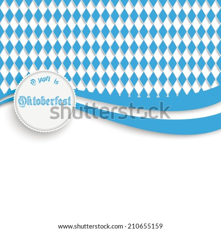 """Oktoberfest design on the white background. German text """"O���´zapft is"""" and """"Oktoberfest"""", translate """"on tap"""" and """"Oktoberfest"""". Eps 10 vector file. - stock vector"""