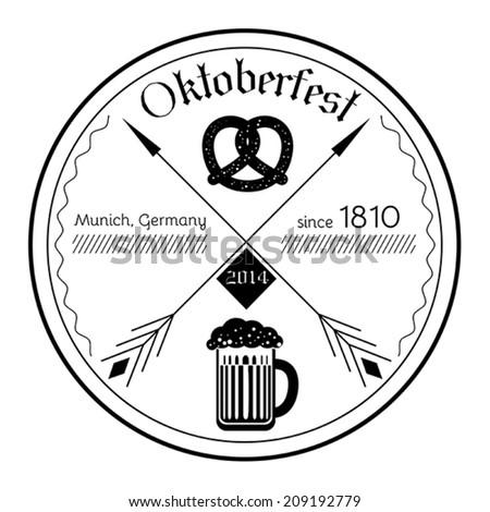 Oktoberfest 2014 - vector flat style illustration - stock vector