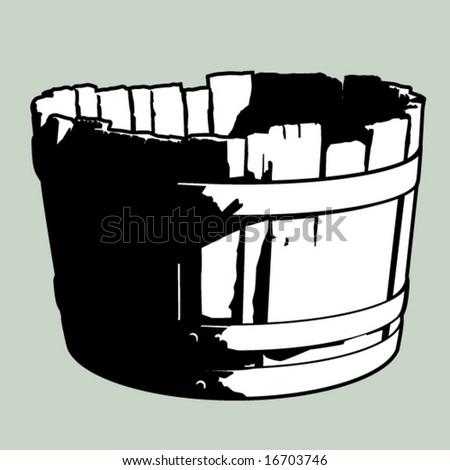 Old Barrel - stock vector