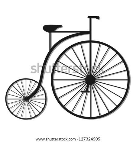 Old bike - stock vector