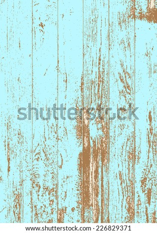 Old blue grunge texture wood. Vector illustration - stock vector