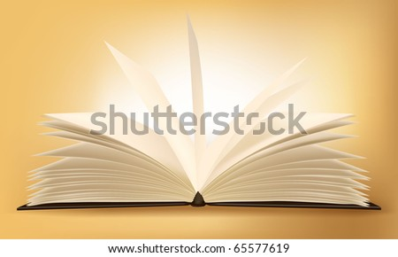 Old book on the gradient background. Vector. - stock vector