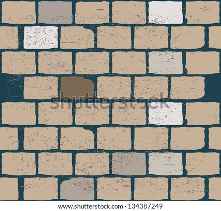 old brick background. vector - stock vector