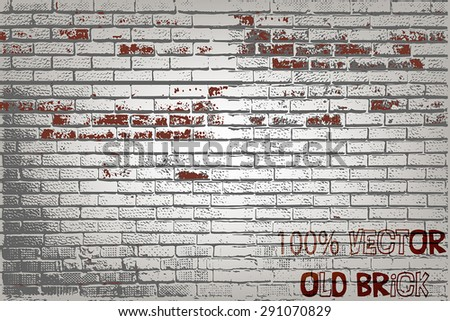 old brick texture - stock vector