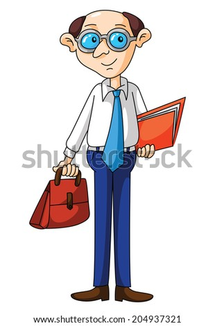 Old Business Man - stock vector