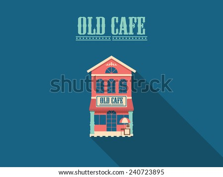 Old Cafe - stock vector