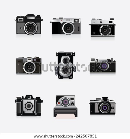 old camera concept - stock vector