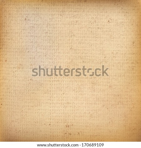 Old canvas texture grunge background. And also includes EPS 10 vector - stock vector