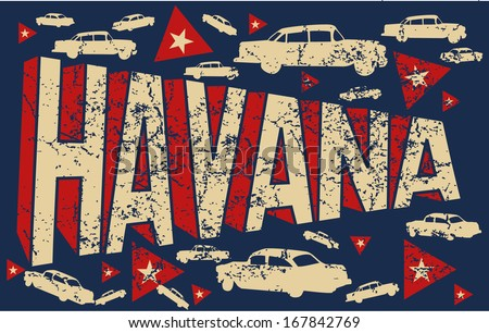 old classic american car havana cuba vector art