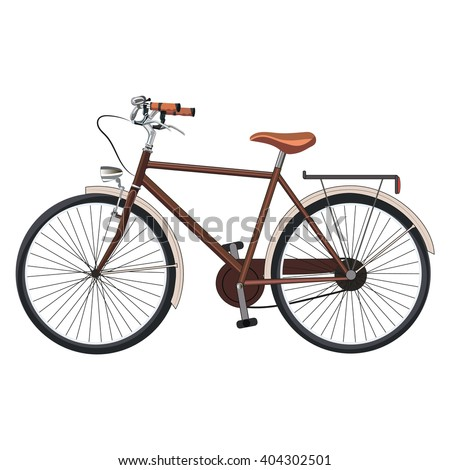 Old classic bicycle. Vector Illustration - stock vector