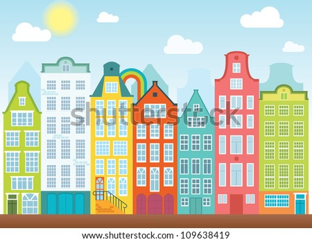 Stock images similar to id 111021983 cartoon village vector