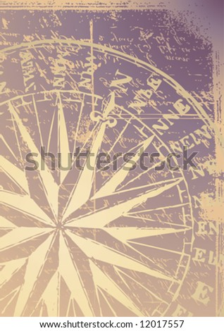 old compass vector - stock vector