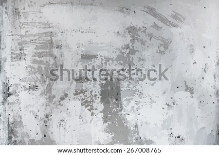 old dirty texture, grey wall background, vector - stock vector