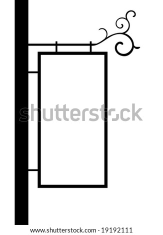 old fashion street notice board vector - stock vector