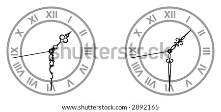 Hour hand stock images royalty free images vectors shutterstock old fashioned dials of a clock with a different hour and minute hands pronofoot35fo Image collections