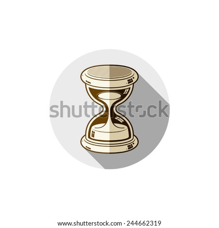 Old-fashioned simple 3d hourglass, time management business icon. Time is running out conceptual symbol. - stock vector