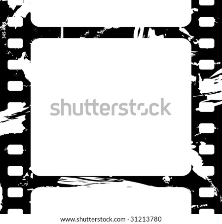 Old film fragment - stock vector