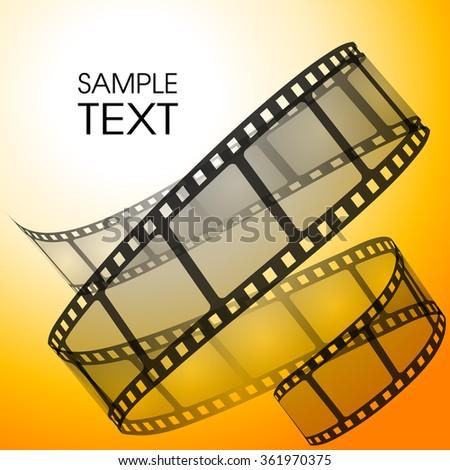 Old film strip vector illustration - stock vector