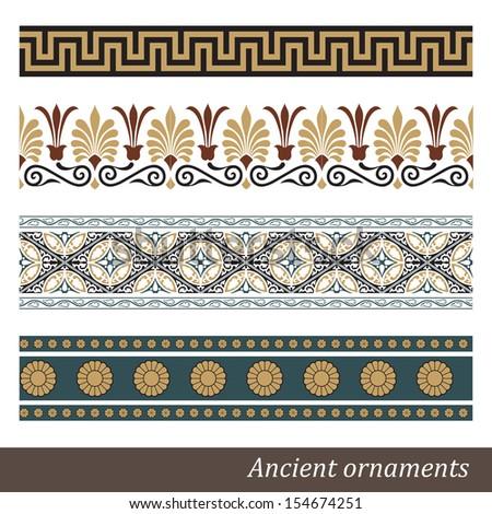 Old greek ornament. Vector illustration. - stock vector