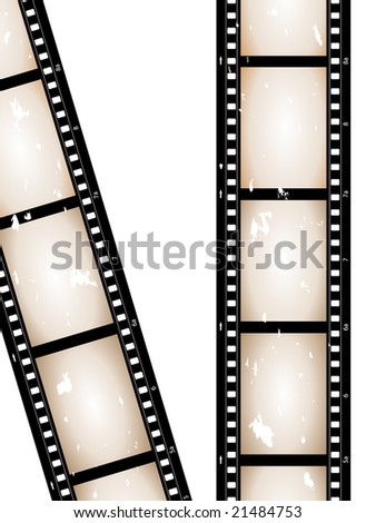 old grunge camera film - stock vector