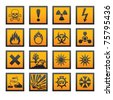 Old hazard symbols - stock vector