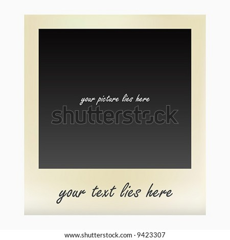 old instant photo frame - stock vector