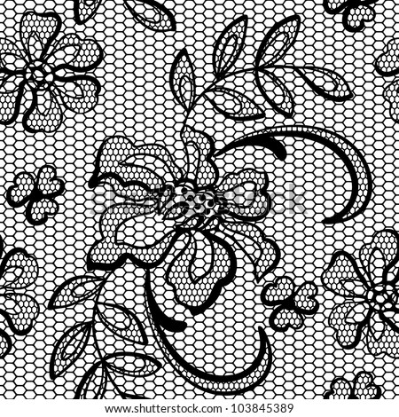 Lace Flowers Drawings Old Lace Background