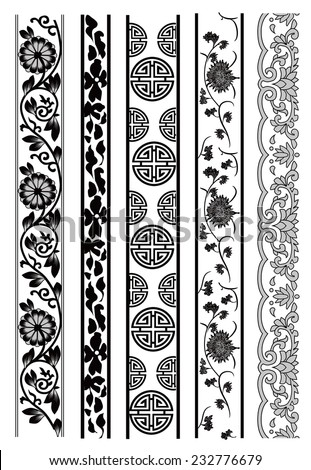 Old lace pattern - stock vector