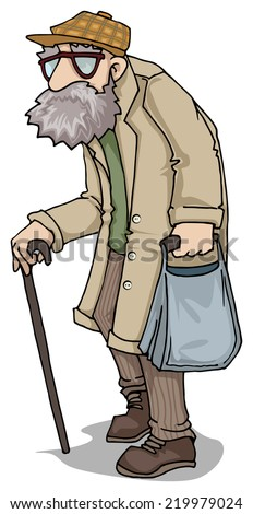 old man character vector illustration stock vector 219979024