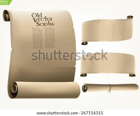Old manuscript vector scrolls.  - stock vector