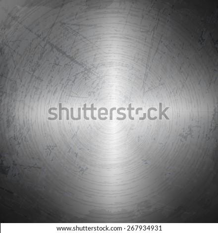 Old metal chrome scratches background - stock vector
