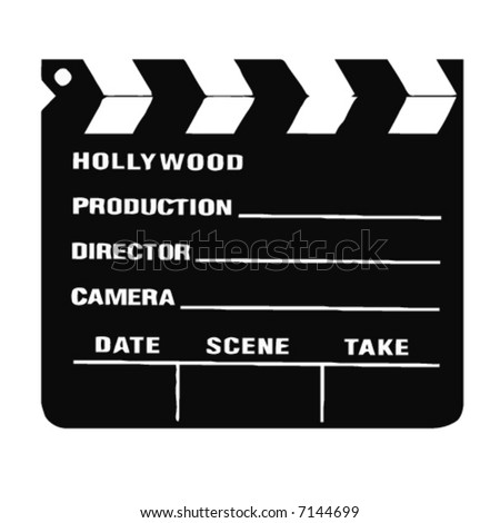 old movie director clapboard - stock vector