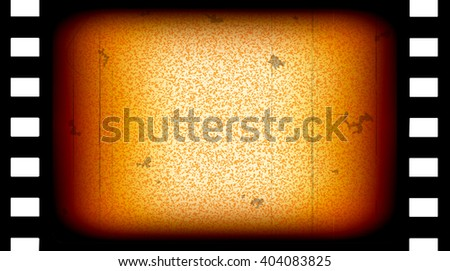 Old movie film frame, vintage sepia colored vector illustration, part of collection movie backgrounds - stock vector