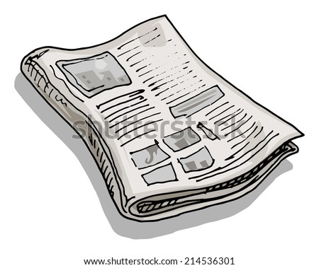 Old newspaper, vector illustration - stock vector