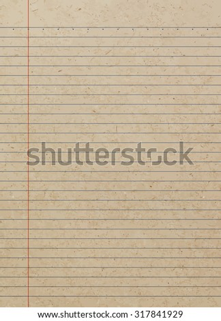 Old note book paper - Vector - stock vector
