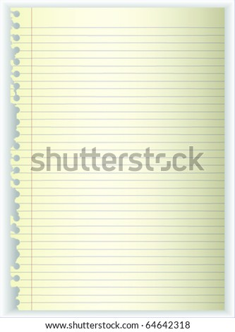Old Note Paper Tear - stock vector