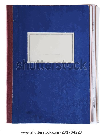 old notebook, vector - stock vector