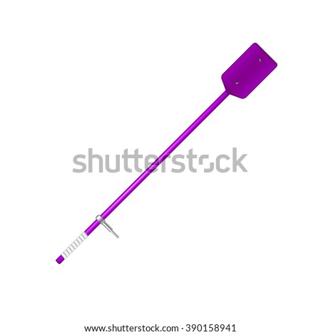 Old oar in purple design