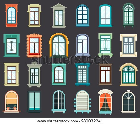 Wooden arch stock images royalty free images vectors for Window design cartoon