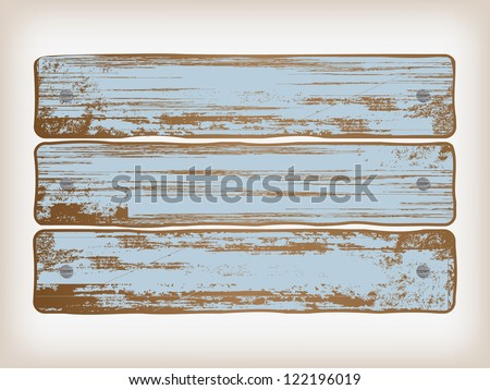 old painted wood background - stock vector