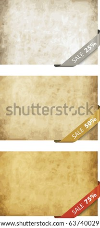Old paper background with strip - stock vector