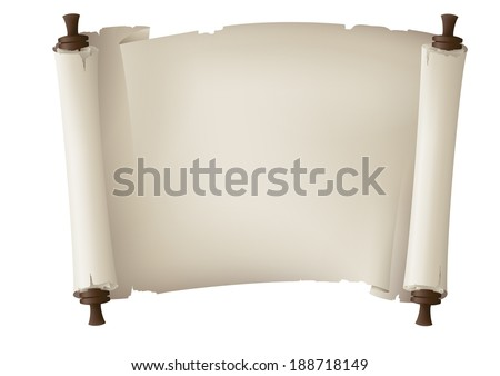 old paper banner, vector drawing