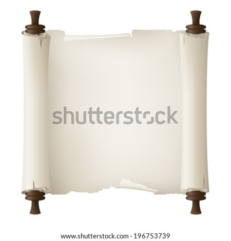 old paper banner , vector drawing  - stock vector