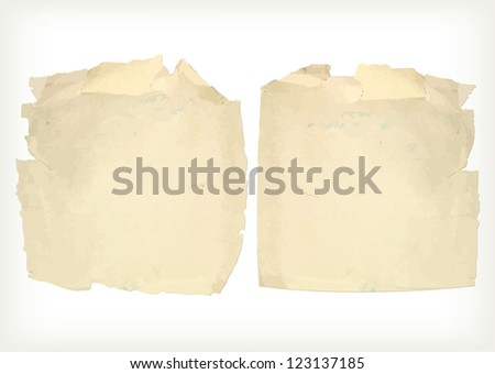 Old paper grunge - stock vector