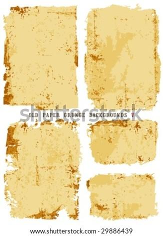 Old paper grunge backgrounds V - stock vector
