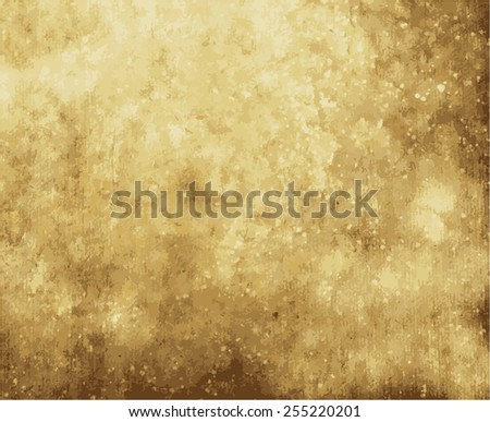 old paper on brown wood texture with natural patterns - stock vector