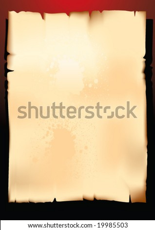 Old paper on dark background - stock vector